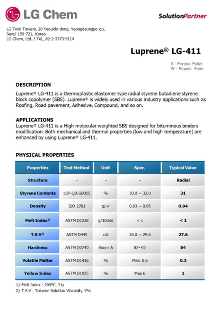 Luprene LG-411 Details